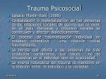 trauma psicosocial