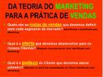 da teoria do marketing para a pr tica de vendas