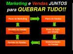 marketing e vendas juntos para quebrar tudo
