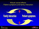 mutual causal effects patient symptoms and family interaction