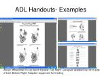 adl handouts examples