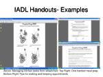iadl handouts examples