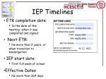 iep timelines