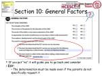 section 10 general factors