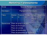 marketing e planejamento