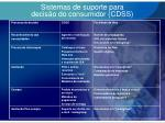 sistemas de suporte para decis o do consumidor cdss