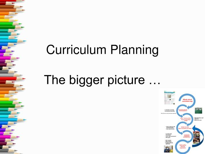 Curriculum planning the bigger picture