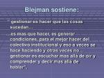 blejman sostiene