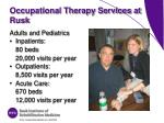 occupational therapy services at rusk