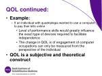qol continued