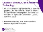 quality of life qol and assistive technology