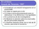 en s ntesis araceli de tezanos 1997