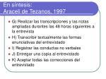 en s ntesis araceli de tezanos 19971