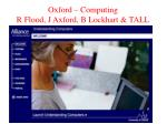 oxford computing r flood j axford b lockhart tall