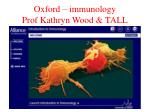oxford immunology prof kathryn wood tall