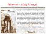 princeton using almagest