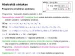 abstrakt sintakse programmu strukt ras uzdo ana