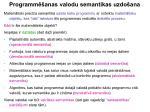 programm anas valodu semantikas uzdo ana