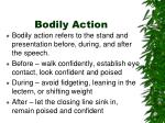 bodily action