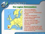 our region extremadura