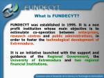 what is fundecyt
