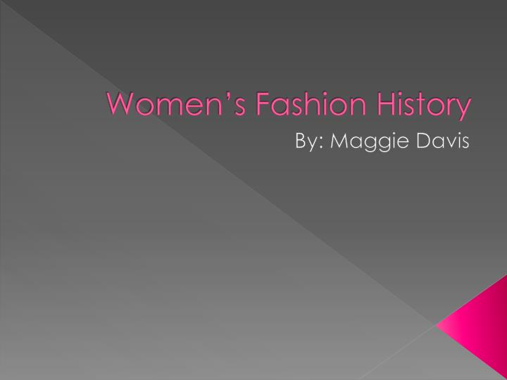 women s fashion history n.