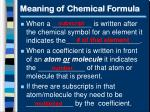 meaning of chemical formula1