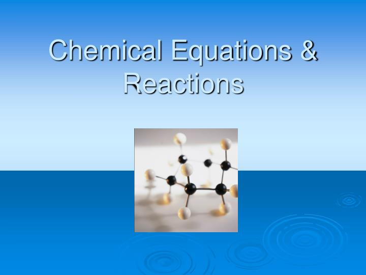 chemical equations reactions n.