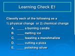 learning check e1