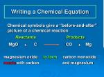 writing a chemical equation