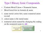 type i binary ionic compounds
