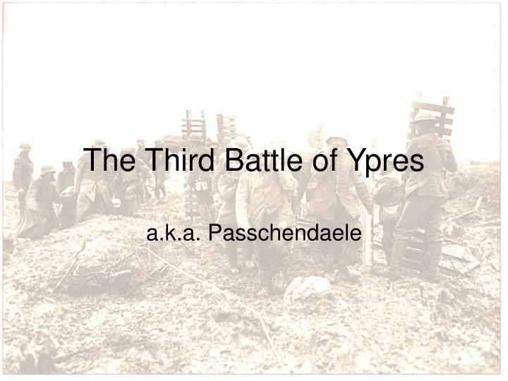 the third battle of ypres n.