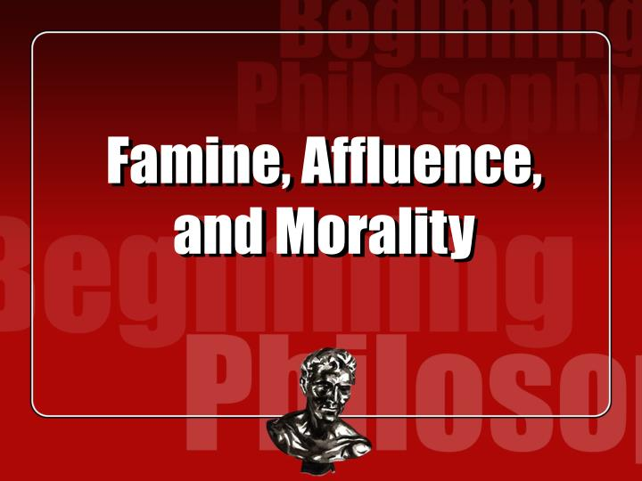 famine affluence and morality n.