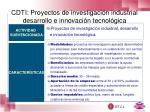 cdti proyectos de investigaci n industrial desarrollo e innovaci n tecnol gica