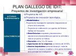 plan gallego de idit proyectos de investigaci n empresarial
