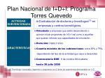 plan nacional de i d i programa torres quevedo