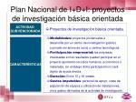 plan nacional de i d i proyectos de investigaci n b sica orientada