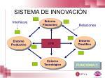 sistema de innovaci n