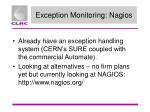 exception monitoring nagios