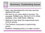 summary outstanding issues