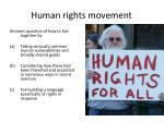 human rights movement