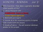 honors agenda jan 31