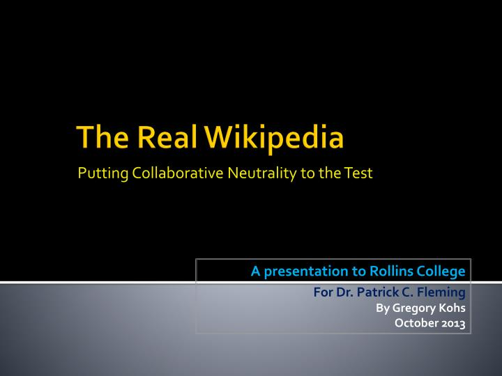 putting collaborative neutrality to the test n.