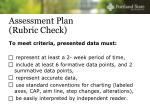 assessment plan rubric check