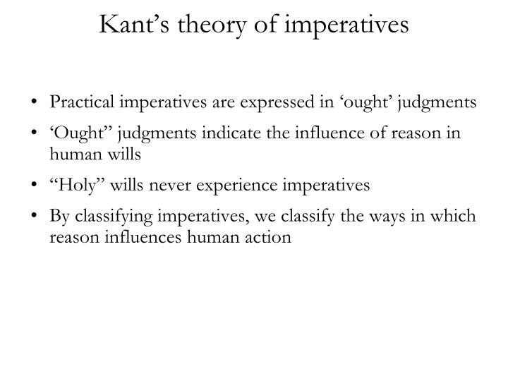 kant s theory of imperatives n.