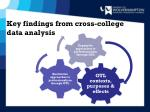key findings from cross college data analysis