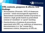 otl contexts purposes effects key findings4