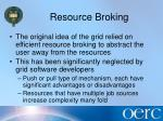 resource broking