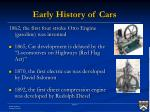 early history of cars1