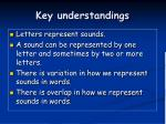 key understandings